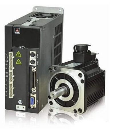 永磁同步伺服电机内部的转子是永磁铁,驱动器控制的u/v/w三相电