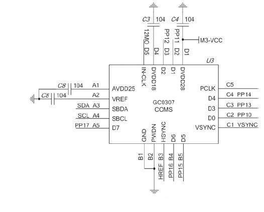 ARM光学指纹识别系统模块电路图