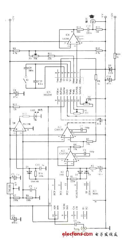 锁相环正弦波振荡器电路