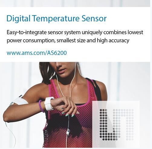 艾迈斯推出高精确度、超低功耗、小尺寸新型温度传感器
