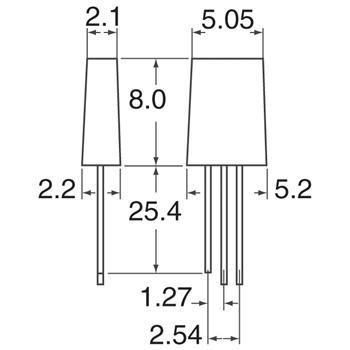 HLMP-0800外观图