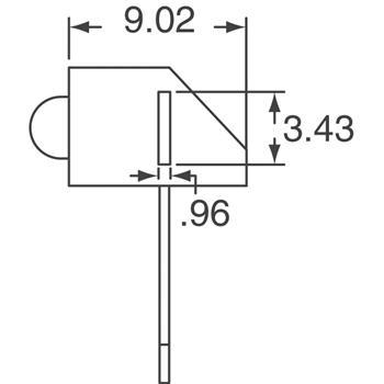 HLMP-3401-E00B2外观图