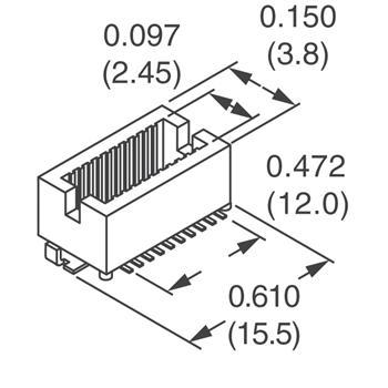 DF12(4.0)-50DP-0.5V(86)外观图