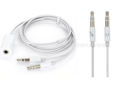 苹果ipad 2 iphone 4g 二合一耳机线 带话筒 电脑手机