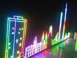 LED全彩灯串  LED异形喷绘大屏制作