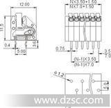 电子镇流器端子 250接线端子 3.5mm端子 弹簧式端子