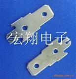 187、4.8双孔上螺丝公端子单脚,插片端子,连接器,接插件