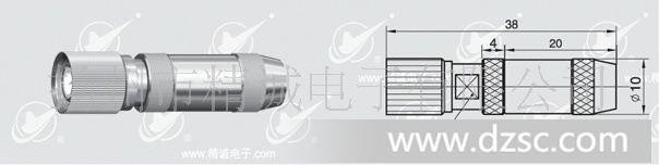 卡锁机构的同轴连接器,特性阻抗75欧姆,它具有结构紧凑,连接可靠,抗振