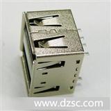 USB双层连接器,电脑连接器(质优价平)