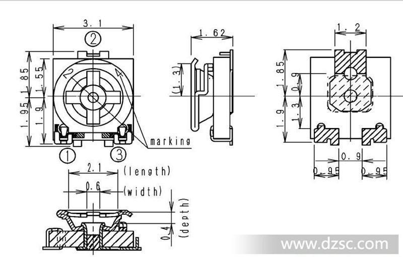 立式水泥电阻_可调电阻EVM3ESX50B25_其他电阻_维库电子市场网