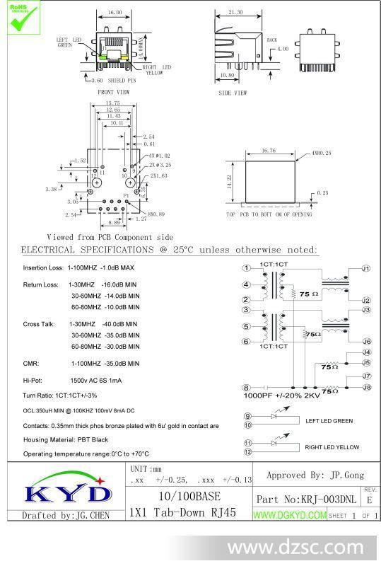 水晶头rj45_其他连接器_捷配电子市场网图片