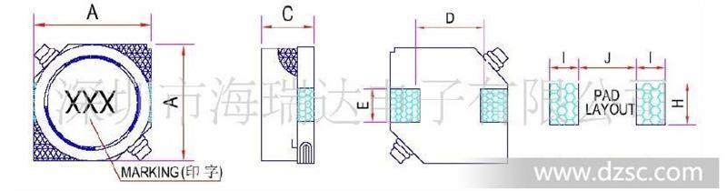 (2)闭磁路构造设计,具有低漏磁,低直流电阻,耐高电流的特点.