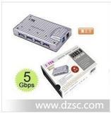 Z-TEK 力特 4口USB3.0 HUB USB集线器有源 USB4口扩展口 ZE541