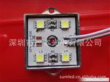 24V四灯5050铁壳防水模组  3535红光24V5050贴片模组