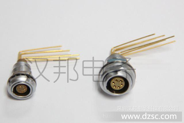 金属连接器 固定式插座 90°弯角针芯