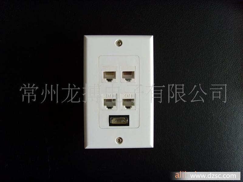 """HDMI 19频 母 -- HDMI 19频 母 尺寸: 2.75""""W x 4.5""""H HDMI 放大式墙板式插座专门为长距离HDMI 传输设计, 此款规格按照标准的美式插孔设计,可以配合W1-U一起使用,将其放置在信号接受端,可以将信号延长至30M以上,十分方便的将HDMI Cable隐藏在墙里面,让家庭布置更加美观和安全."""