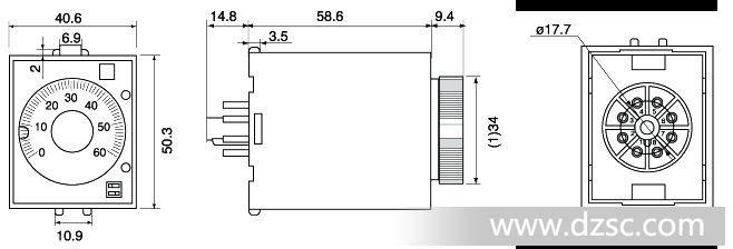 时间继电器,数字时间继电器,st3p,st3p电子时间继电器