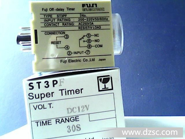 """外型尺寸:84*41*55.5 工作方式:断电延时 延时范围:Sec:1、5、10、30、60 Min:3、5、10、30额定电压:DC(V):12、24、48 、110 AC(V):12、24、48、110、220 50/60Hz触点数量:1组延时触点触点容量:AC250V 3A 阻性延时精度:≤10%环境温度:-10~45机械寿命:5×106电气寿命:105安装方式:装置式或面板式"""""""
