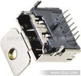 HDMI 19P 母座 90°Dip   三排针单耳
