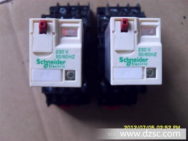 继电器大量现货,2p ,4p 施耐德 小型继电器 rxm2ab4bd rxm4ap2p7