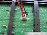 晶彩直销LED显示屏-全户外P10单红色直插电源座--LED显示屏模组