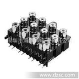 厂家AV插座,RCA同芯插座,音视频多口插座,品质优良插座