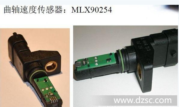 MLX90254总说明MLX90254是一个差分动态霍尔效应传感器,已为汽车曲轴和ABS(防抱死制动系统)的应用开发。集成电路,结合在他的背部放置一块磁铁,提供铁磁动态运行中的齿车轮(非零速度)的速度和位置传感。它的低迟滞,使其能够从-40 ° C广泛的airgaps至150 ° C.