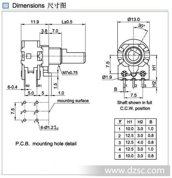 厂家供应r12mm旋转电位器,小148电位器,进口碳膜电位器