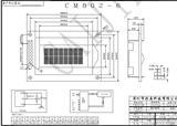 CM802-6 字符液晶模块 0802LCD显示屏