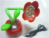 994两用卡通苹果LED台灯 可插电配USB接口线 可上三节五号<font color=red>电池
