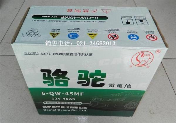 奇瑞qq蓄电池汽车起动型骆驼免维护6-qw-45mf1
