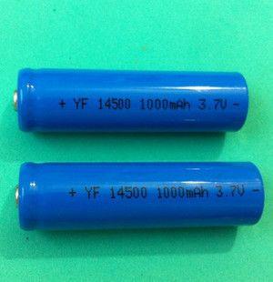 14500锂电池 5号aa 3.7v图片