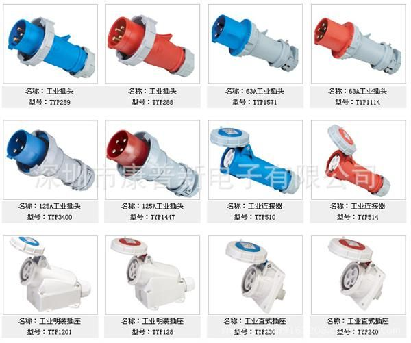 16a32a63a125a工业插头插座