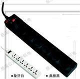 捷科直排六孔三角插座电源转换插座开关 工业品一站采购PT-6-1-10
