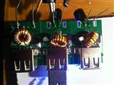 双USB车充线路板 5V/3A足电流