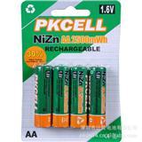 2500mWH镍锌电池 aa/5号/1.6v充电电池批发