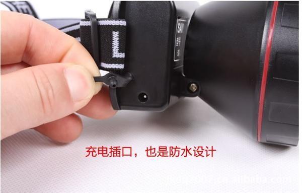 10w强光防水大功率锂电池充电强光led头灯,矿灯图片