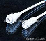 直销 信号插头LED防水连接器公母对接插头线护栏管对接线耐寒电线