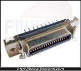 SCSI 36P CN型180度插板母座,HPCN 36芯直插母座