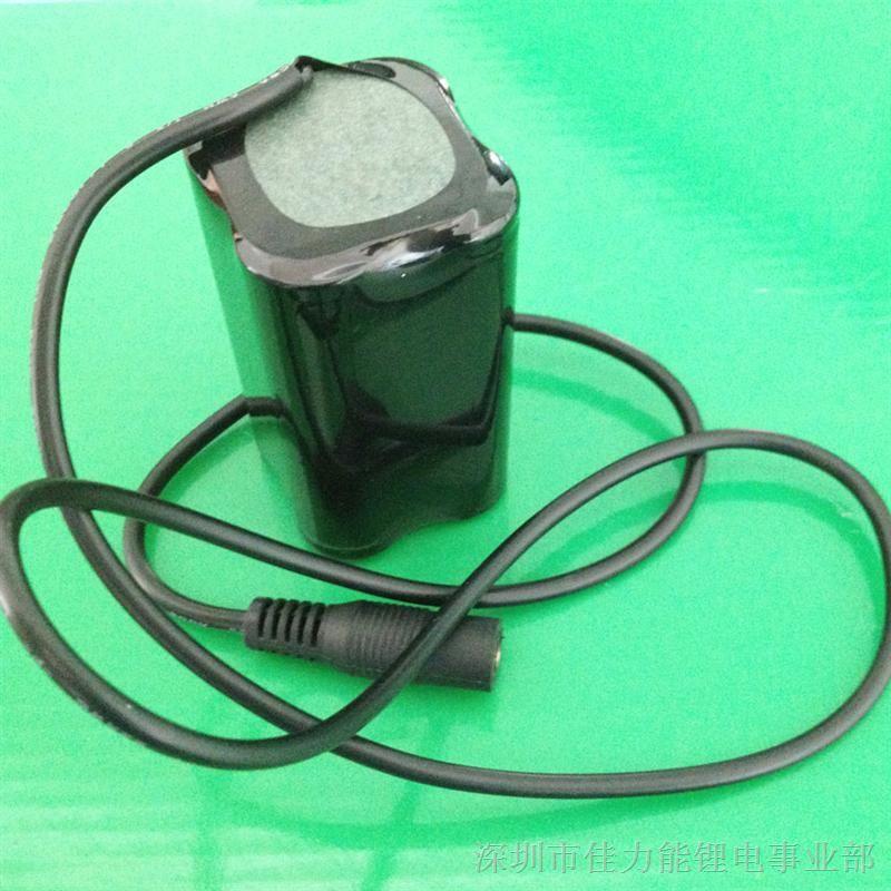 自行车头灯电池7.4v 4400mah锂电池.图片