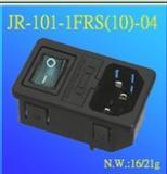 插座 JR-101-1FRS(10)-04 八字插座  AC电源插座  三合一插座  二合一插座