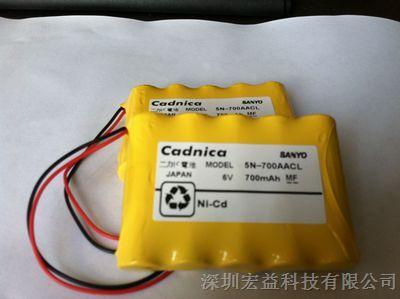 cadnica sanyo 5n-700aacl 6v 700mah锂电池图片