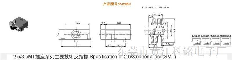 5耳机插座用途:应用于手机立体设计