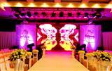 大厅背景墙LED全彩电子显示屏,大厅高清大屏幕