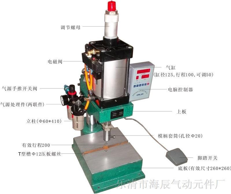 供应单柱结构气动冲床,生产速度可调气动冲床