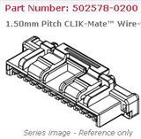 502578-0200,molex连接器,线对板连接器