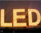 穿孔字LED冲孔灯串 超高亮黄光LED钻孔灯 5V冲孔外露串灯 超高亮打孔串灯