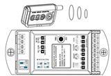 自动门门禁控制器 门禁扩展器含一个控制板两个遥控器