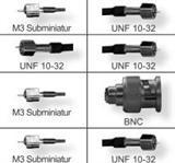 压电加速度传感器配件转接头电缆10-32UNF/M5/BNC/TNC/MIL-C-5015航空插头 3106A-10SL-4S