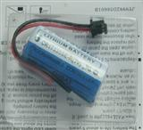 三菱PLC专用锂电池(Mitsubashi CR17335SE-R/Q6BAT 3V ) 带插头